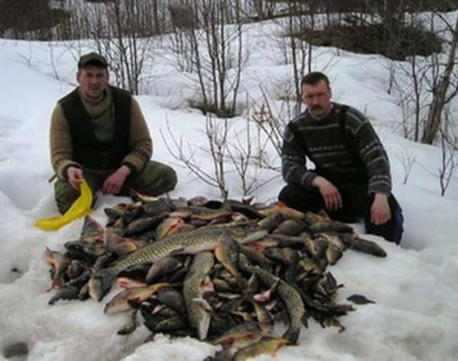 Зимняя рыбалка, разновидные снасти